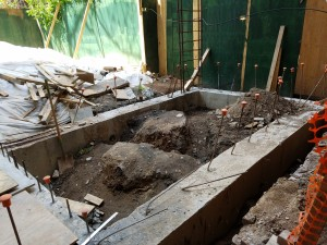 Rear extension - footings