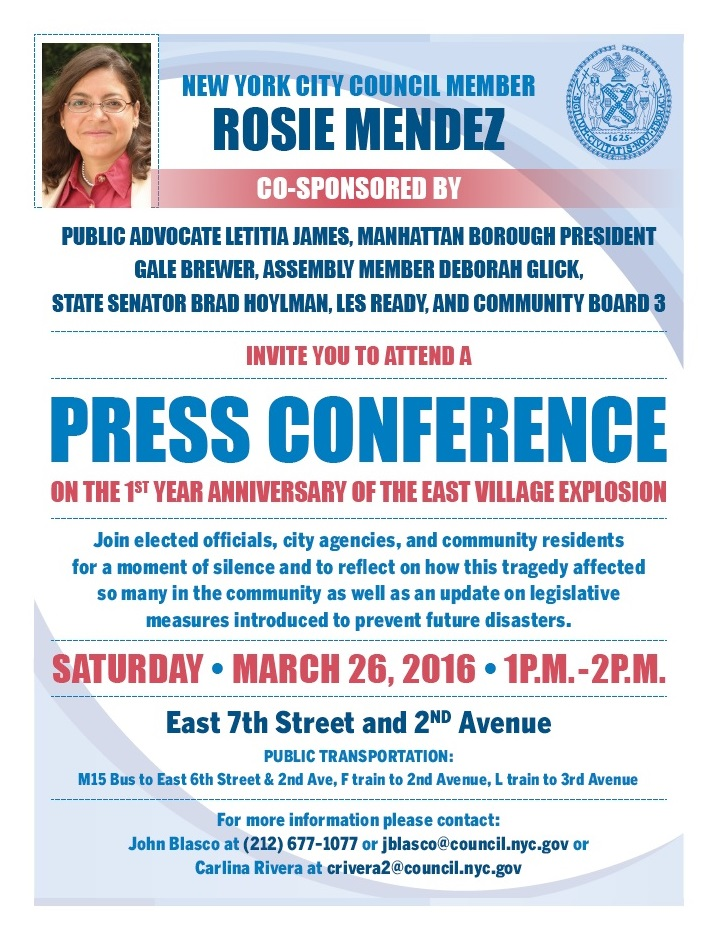 Mendez 2nd Ave Explosion-press-conference-flyer
